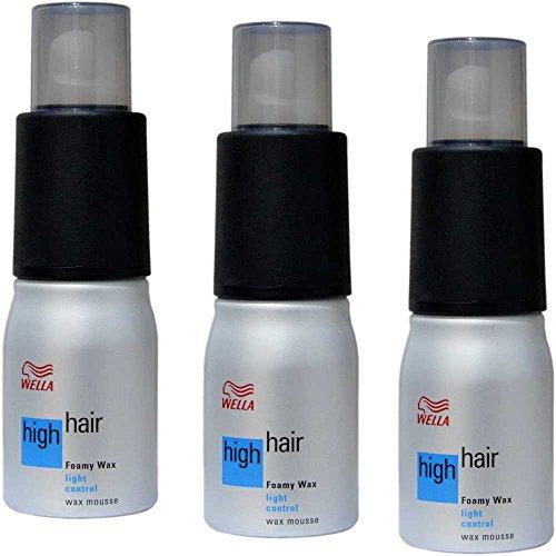 Wella High Hair Foamy Wax Schaumwax - 150ml (3´er Pack)