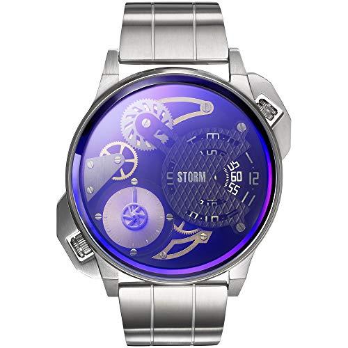 Storm London DUALMATION Lazer Blue 47410/LB Montre-Bracelet pour Hommes