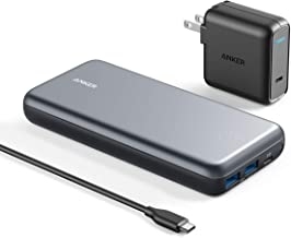 Anker PowerCore+ 19000 PD Hybrid Portable Charger and USB-C Hub with Included USB-C Wall Charger, Power Delivery Power Ban...