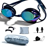 Swimming Goggles, PHELRENA Professional Swim Goggles Anti Fog UV Protection No Leaking for Adult Men...