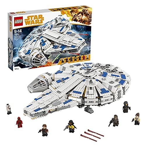 LEGO Star Wars Halcón Milenario del Corredor De Kessel, Set de Construcción de la Guerra de las Galaxias, Incluye Minifiguras de Han Solo, Chewbacca, Qi'ra y Lando Calrissian (75212)