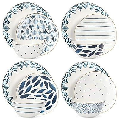 Lenox 893116 12 piece Dinnerware Set, 15.00 LB, Blue