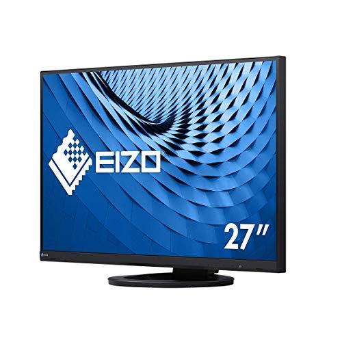 EIZO FlexScan EV2760-BK 68,5 cm (27 Zoll) Ultra-Slim Monitor (DVI-D, HDMI, USB 3.1 Hub, DisplayPort, 5 ms Reaktionszeit, Auflösung 2560 x 1440) schwarz