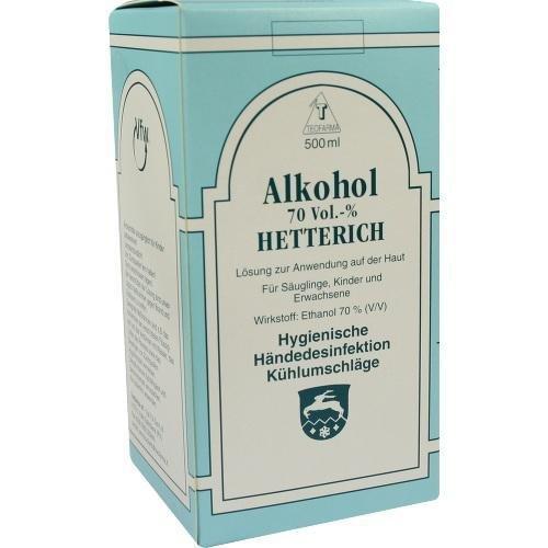 ALKOHOL 70 VOL % HETTERICH 500ml Flüssigkeit PZN:4769683