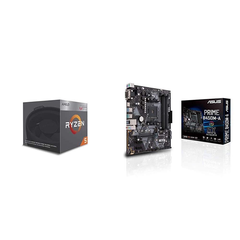 Pack de procesador AMD Ryzen 5 2400G y Placa Base ASUS Prime B450M-A: Amazon.es: Informática