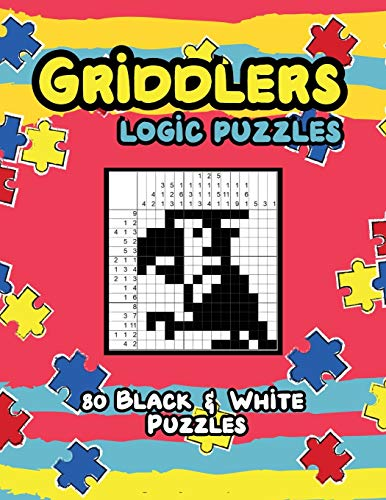 Griddlers Logic Puzzles: Nonograms Picross Hanjie book, Japanese Crossword Picture Logic Puzzles.