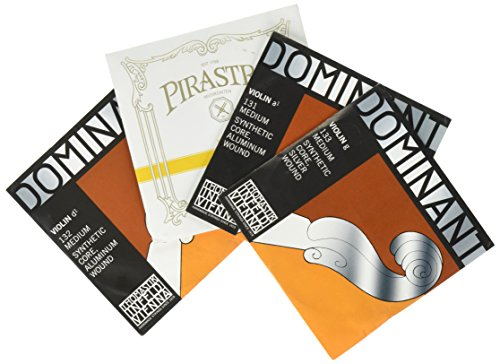 JSI Special 4/4 Violin String Set: Gold Label Ball-End E & Dominant A, D, and G Strings - Medium Gauge