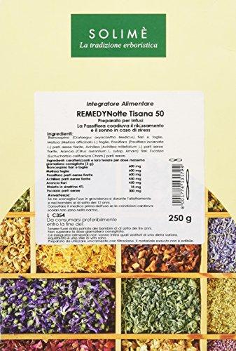 Remedy Noche Tisana con Melissa y Passiflora para agevolare el sueño 250 g – Producto erboristico Made in Italy