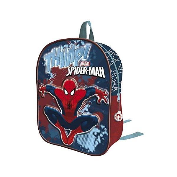 51AZhQTeAuL. SS600  - Spiderman AS068-2017 - Mochila Infantil, 32 cm, Multicolor