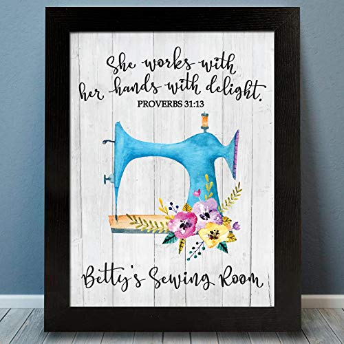 Personalized Sewing Print | Craft Room Decor | Sewing Gift | Sewing Room Decor | Sewing Decoration | Knitting Gift | Quilting Gift | Personalized Gift for Grandmother | Grandma Christmas Gift