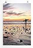 Eau Zone Home Bild - Art Fotos – Surfer am Wattenmeer-