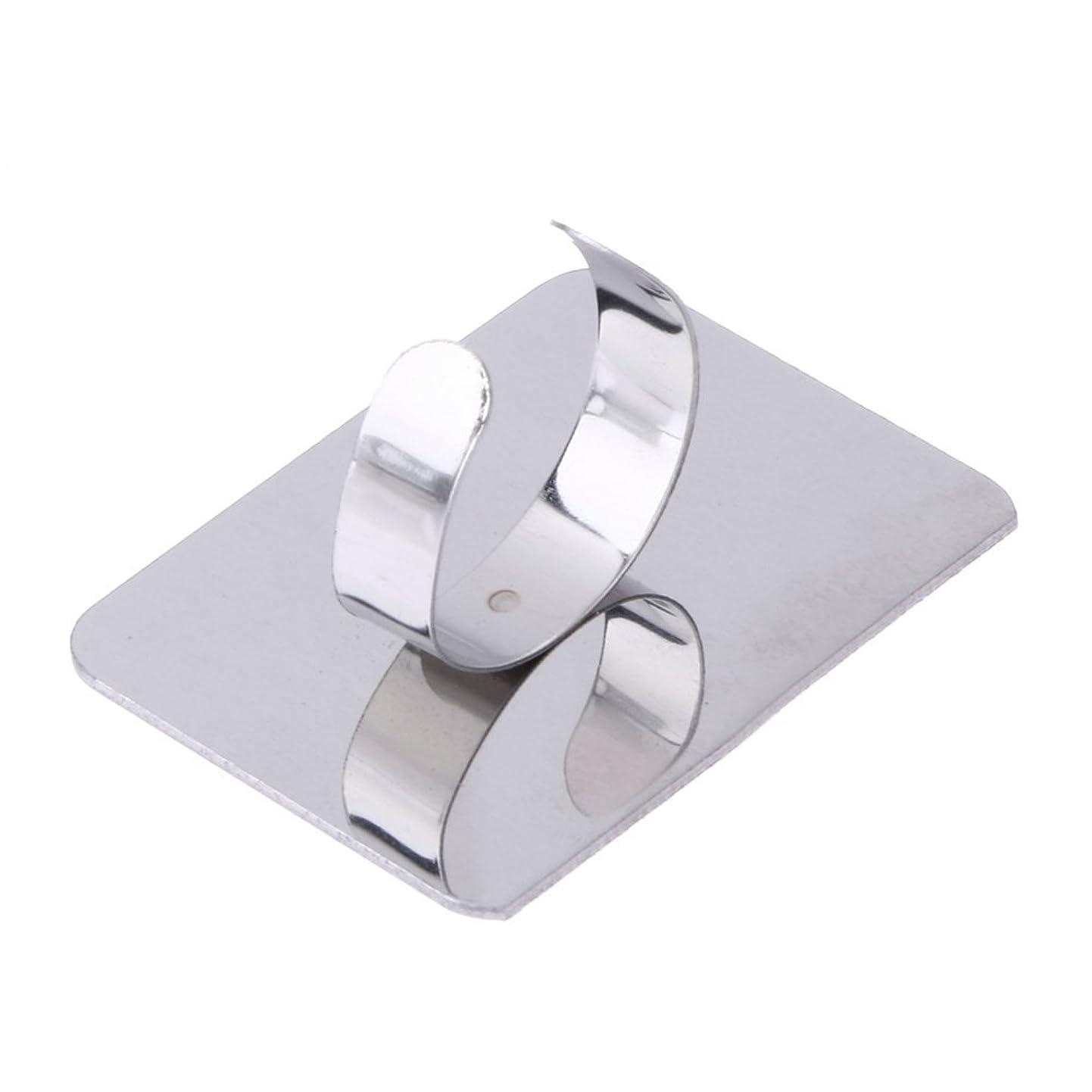 船上セイはさておき昇進1st market プレミアム 人気 ネールアートリキッドファンデーション混合化粧用のステンレス鋼パレット調節リング 便利