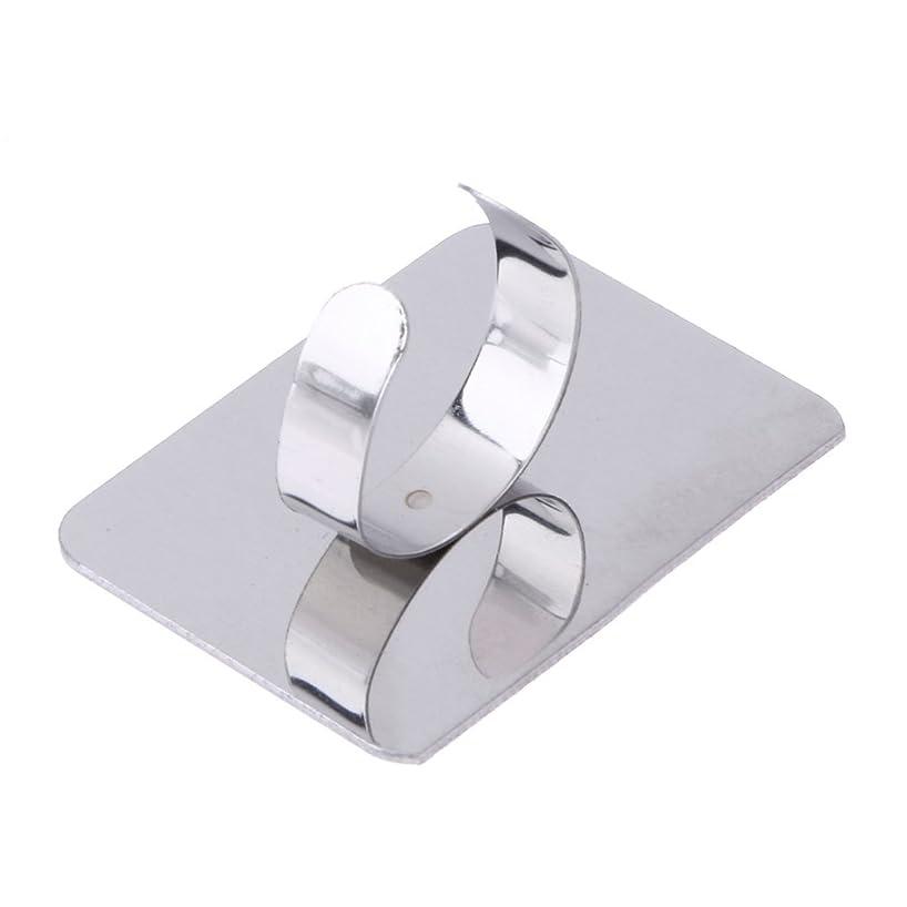 摂動裸異常な1st market プレミアム 人気 ネールアートリキッドファンデーション混合化粧用のステンレス鋼パレット調節リング 便利
