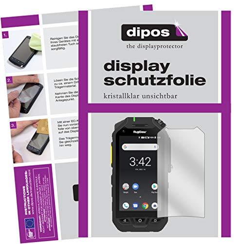 dipos I 6X Schutzfolie klar kompatibel mit Ruggear RG725 Folie Bildschirmschutzfolie