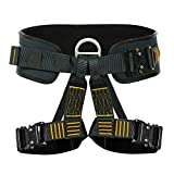 Fusion Climb Apollo III Military Tactical Padded Half Body Adjustable Zipline Harness 23kN M/L Black