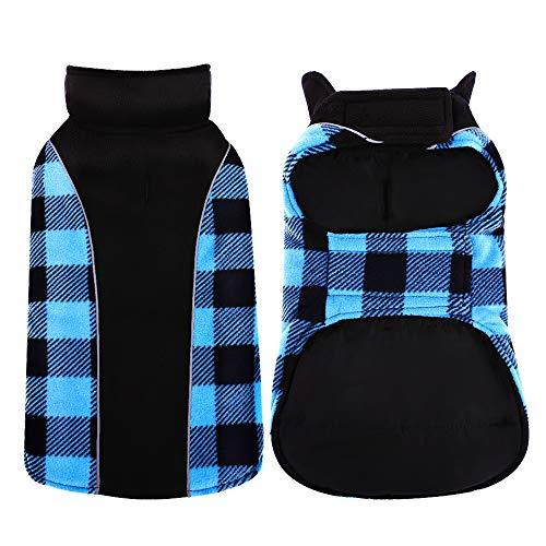 Kuoser Reversible Dog Cold Weather Coat, Reflective Waterproof Winter Pet Jacket, British Style...