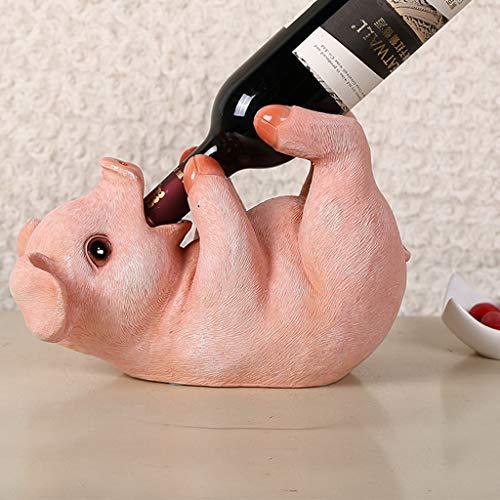 GAOLE Decoraciones para el hogar Creativo Lindo Cerdo Vino Titular de la Botella de Vino Estante Sala de Estar Europea decoración del gabinete del Vino