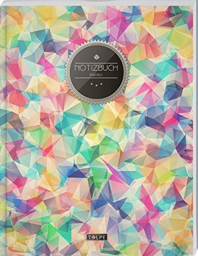 """TULPE Blanko Notizbuch A4 """"C036 Bunt"""" (140+ Seiten, Vintage Softcover, Seitenzahlen, Register, Weißes Papier - Dickes Notizheft, Skizzenbuch, Zeichenbuch, Blankobuch, Sketchbook)"""