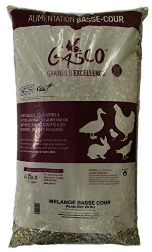 Gasco Mélange Basse Cour pour Élevage/Agriculture Urbaine 20 kg