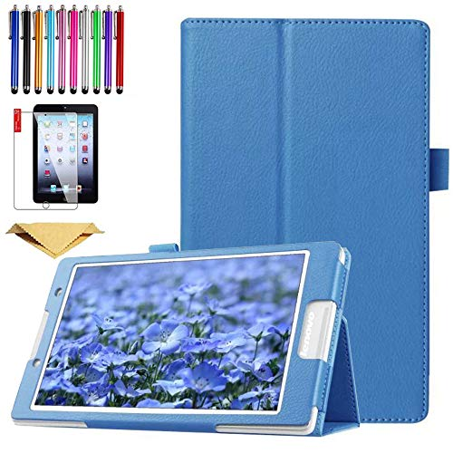 SsHhUu Galaxy Tab S7 Case 2020 SM-T870/T875, Lightweight Smart Folio Stand Cover PU leather case with screen protector for for Galaxy Tab S7 11 inch, LightBlue