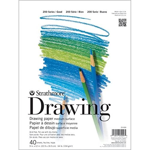 11 x 14 Inches 70 lb Strathmore 200 Series Drawing Pad 40 Sheets