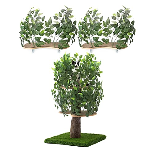On2 Pets 5ft Interchangeable Leaves Cat Activity Tree, Made with Love...