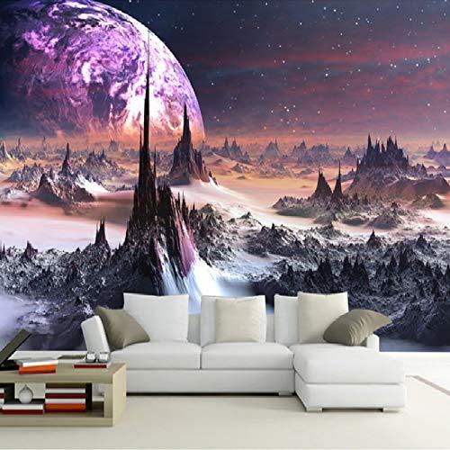 Papel tapiz fotográfico personalizado 3D estéreo universo estrellas pintura de pared arte Mural sala de estar sofá dormitorio TV telón de fondo 3D Mural papel tapiz