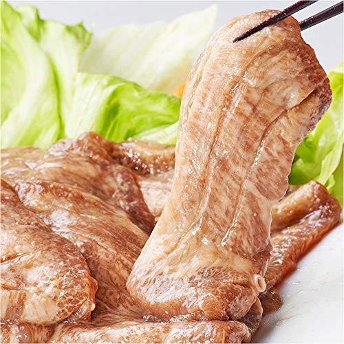仙台名物 特上 霜降り 牛たん 味噌漬け 厚切り 5mm やわらか 牛タン ステーキ 肉 超希少 タン元 スリット入 (200g)