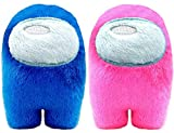 Among Us Game Plush Toys | Soft Stuffed Animals Imposter Plush Squeak Plushie Figure 3.9inch - Pack of 2(Blue+Pink)