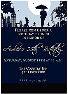 London George VI Birthday Party Invitations