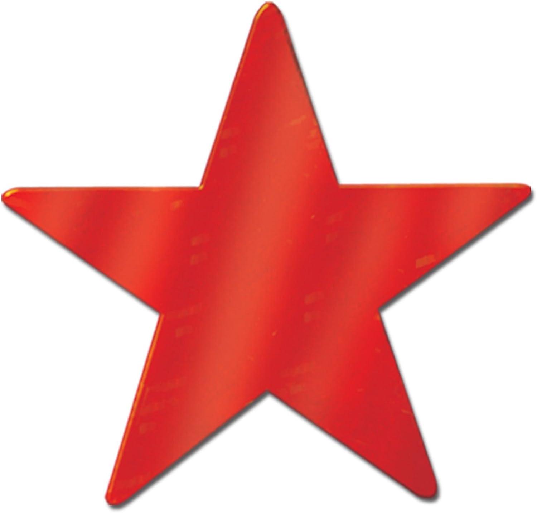Beistle - 55838-R - Die-Cut Foil Star - Pack of 36