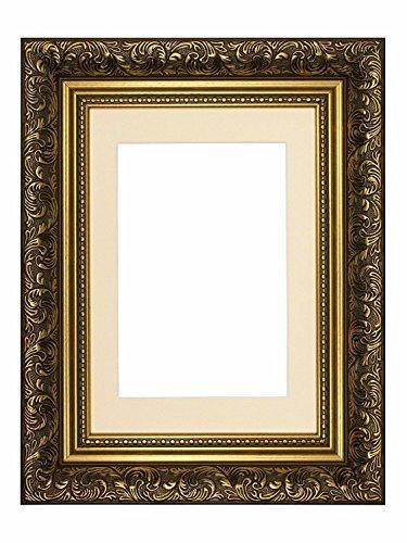 Paintings Frames Cadre Photo doré de 40,6 x 30,5 cm jusqu'à 30,5 x 20,3 cm - avec Support coloré en Couleur Ivoire dans Un Style français et Ancien