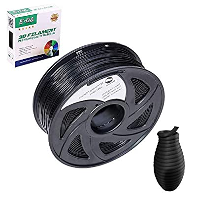 E-DA ABS 3D Printer Filament, ABS Filament 1.75mm 1KG, With High Strength and Better Toughness, 3D Printing Filament for 3D Printers, Dimensional Accuracy +/- 0.03mm, (Black)