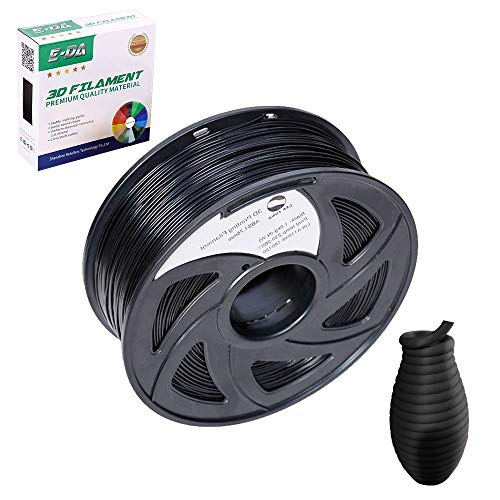 E-DA ABS 3D Printer Filament, ABS Filament, With High Strength and Better Toughness, 3D Printing Filament for 3D Printers, Dimensional Accuracy +/- 0.03mm, (Black)