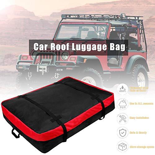 HNWTKJ Cofre Portaequipajes, Porta Equipaje para Coche Techo, Plegable Impermeable Resistente para Viajes Largos Vacaciones y Transporte de Equipaje