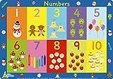 Little Wigwam Mantel Individual de números.