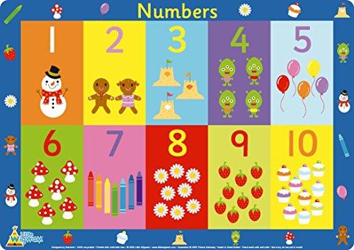 Little Wigwam - Zahlen Platzdeckchen Platzset Tischset Für Kinder (Englisch)