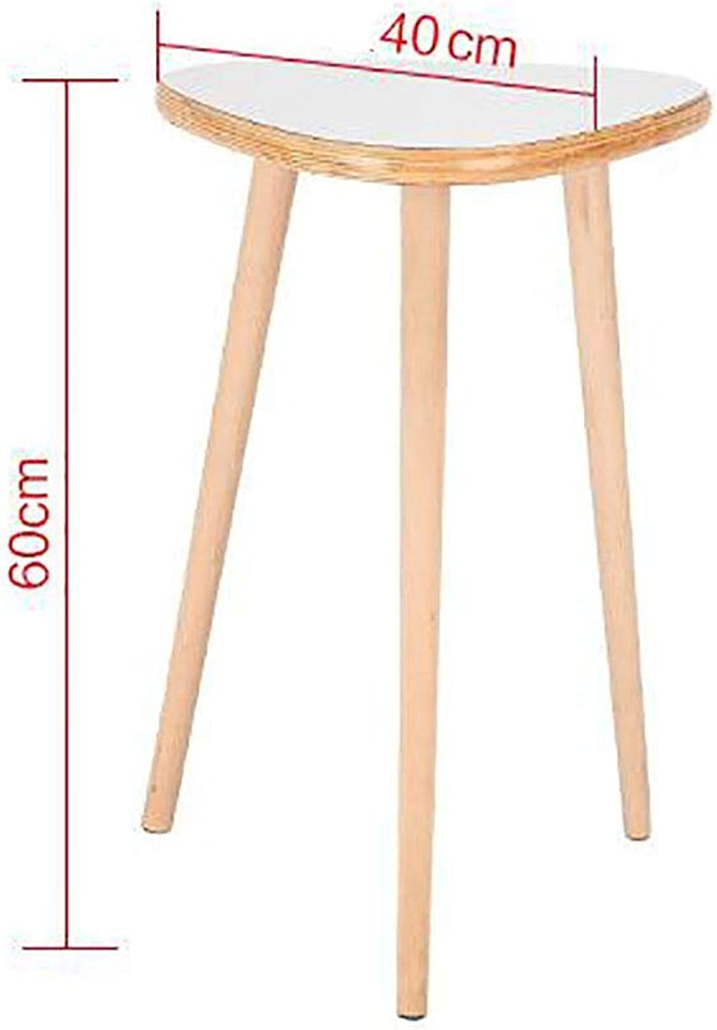 TJTG Solid Wood Foot Tea Table Sofa Side Small Round Table Nordic Mini Round Table Corner Coffee Table Home Office Desk (Size   40cm)