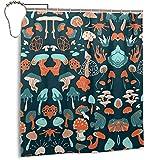Cortina de Ducha de Setas decoración del hogar Cortina de Ducha Lavable a máquina decoración de la habitación Cortina de baño 168 * 183 cm