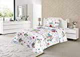 ForenTex - Colcha Boutí, (S-2680), Reversible, Cama 90 cm, 180 x 260...