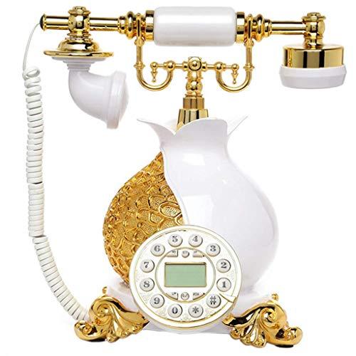Teléfono Retro/línea Fija de Ministerio del Interior del dial del botón de la Resina del teléfono móvil Antiguo, decoración del Escritorio en casa