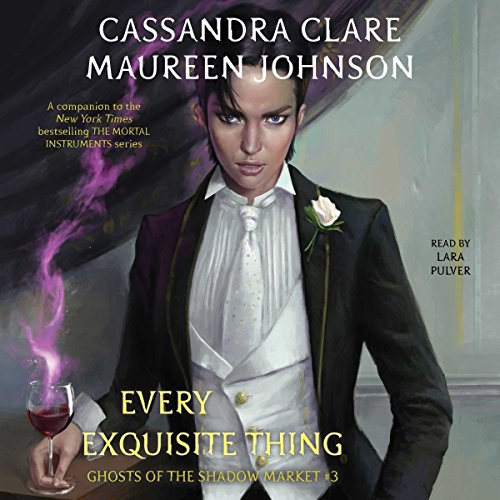 Every Exquisite Thing     Ghosts of the Shadow Market, Book 3              De :                                                                                                                                 Maureen Johnson,                                                                                        Cassandra Clare                               Lu par :                                                                                                                                 Lara Pulver                      Durée : 1 h et 50 min     Pas de notations     Global 0,0
