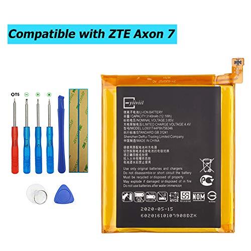 E-YIIVIIL Li3931T44P8h756346 Batteria di ricambio compatibile per ZTE Axon 7 Grand X4 A2017U Z956 con kit di attrezzi