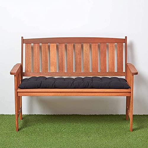 YIYI Cojín grueso para banco de jardín con lazos de fijación, cojín de sofá de 2/3 plazas, cómodo colchón de repuesto para columpios de jardín, patio, comedor, tumbona