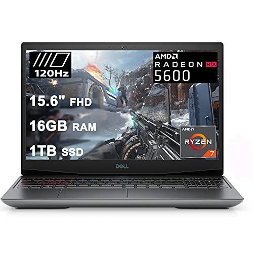 "Dell Flagship G5 15 Special Edition Gaming Laptop 15.6"" FHD 120Hz Display AMD 8-Core Ryzen 7 4800H (Beat i7-10750H) 16GB RAM 1TB SSD Radeon RX 5600M 6GB Backlit USB-C Win10"