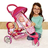 Chicco 63956 Double Jogger Stroller for Baby Dolls, Small, Pink