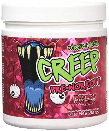 Creep Labs Creep Pre-Entrenamiento Suplemento Dietario, Ráfaga de Frutas 390 g