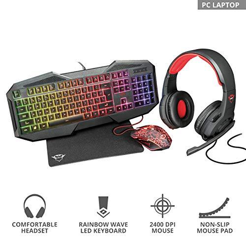 Trust GXT788RW 4-in-1 Gaming Bundle für PC und Laptop/Notebook (DE-22561)