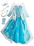 Beunique Robe Reine des Neiges Enfant Costume Princesse Elsa Déguisements Filles Robe de...