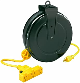 Alert Stamping 5000M-30GF-CB Retractable Extension Cord Reel w/Circuit Breaker, 30-Feet